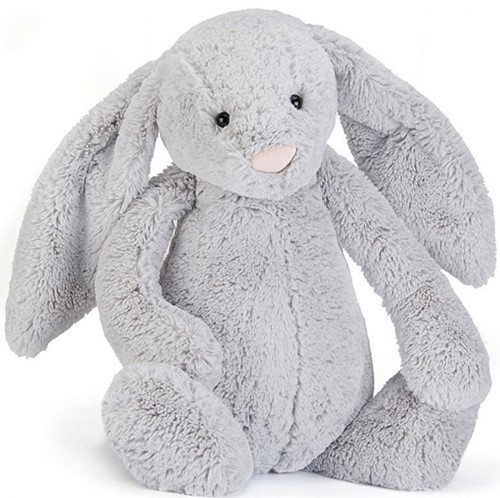 Jellycat Bashful Zilver Konijn Medium