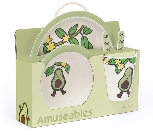Jellycat Amuseable Avocado Bamboo Set - 25cm
