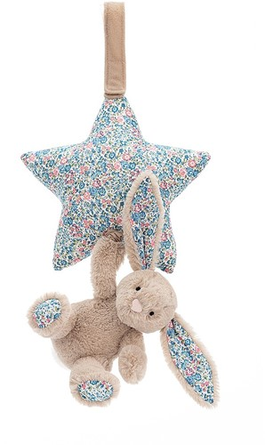 Jellycat Blossom Beige Bunny Musical Pull - 28cm