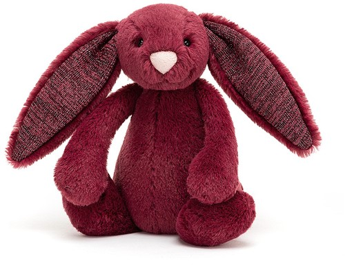 Jellycat Bashful Sparkly Cassis Bunny Small - 18cm