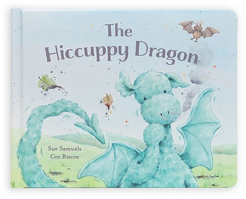 Jellycat The Hiccuppy Dragon Book - 18cm