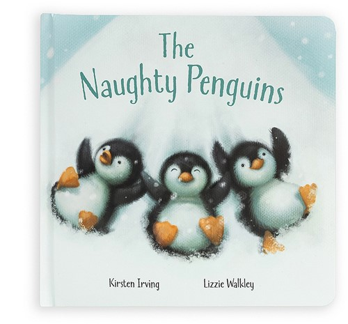 Jellycat The Naughty Penguins Book - 21cm