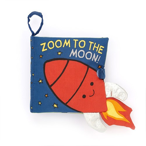 Jellycat Zoom To The Moon Book - 16cm