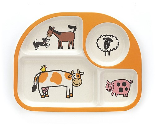 Jellycat Farm Tails Bamboo Divided Plate - 26cm