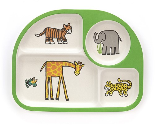Jellycat Jungly Tails Bamboo Divided Plate - 26cm