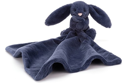 Jellycat Bashful Navy Bunny Soother - 34cm